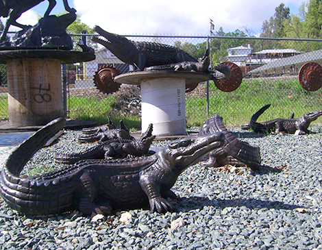 Reptile Statues